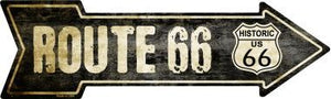 Vintage Route 66 Novelty Metal Arrow Sign
