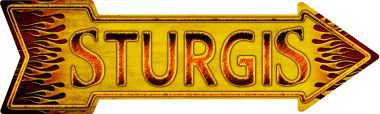 Sturgis Novelty Metal Arrow Sign