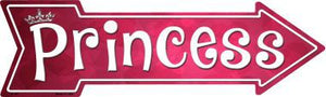 Princess Novelty Metal Arrow Sign