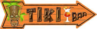 Tiki Bar Novelty Metal Arrow Sign