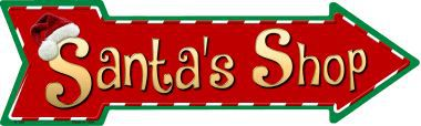 Santas Shop Novelty Metal Arrow Sign