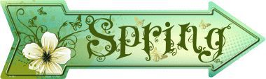 Spring Novelty Metal Arrow Sign