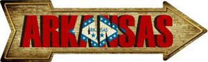 Arkansas Novelty Metal Arrow Sign