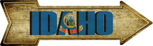 Idaho Novelty Metal Arrow Sign