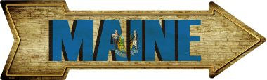 Maine Novelty Metal Arrow Sign