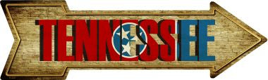 Tennessee Novelty Metal Arrow Sign