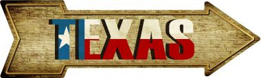 Texas Novelty Metal Arrow Sign