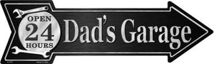 Dads Garage Novelty Metal Arrow Sign