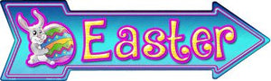 Easter Novelty Metal Arrow Sign