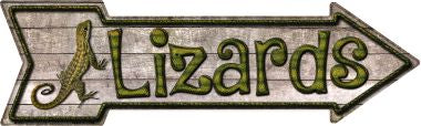 Lizards Novelty Metal Arrow Sign