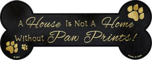 Without Paw Prints Novelty Bone Magnet