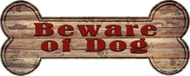 Beware of Dog Novelty Bone Magnet