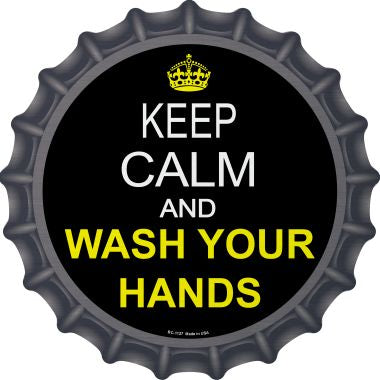 Keep Calm Wash Your Hands Novelty Metal Bottle Cap BC-1127