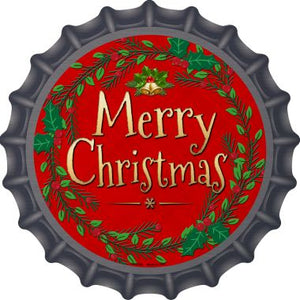 Merry Christmas Novelty Metal Bottle Cap 12 Inch sign