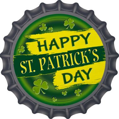 Happy St. Patrick's Day Novelty Metal Bottle Cap Sign