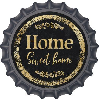 Home Sweet Home Novelty Metal Bottle Cap 12 Inch Sign