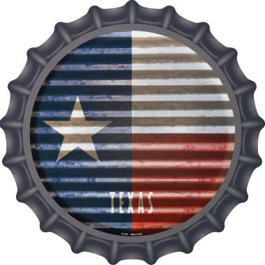 Texas Flag Corrugated Effect Novelty Metal Bottle Cap BC-953
