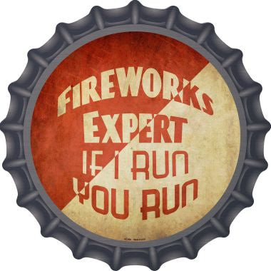 Fireworks Expert Novelty Metal Bottle Cap BC-968
