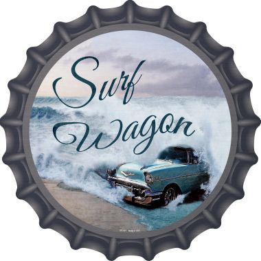 Surf Wagon Novelty Metal Bottle Cap BC-977