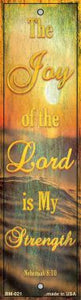 Joy of the Lord Novelty Metal Bookmark BM-021