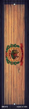 West Virginia Flag Novelty Metal Bookmark