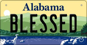 Blessed Alabama Novelty Metal Bicycle Plate