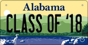 Class of 18 Alabama Novelty Metal Bicycle Plate BP-10015