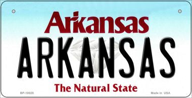 Arkansas Novelty Metal Bicycle Plate