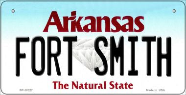Fort Smith Arkansas Novelty Metal Bicycle Plate BP-10027