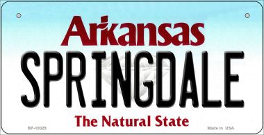 Springdale Arkansas Novelty Metal Bicycle Plate BP-10029