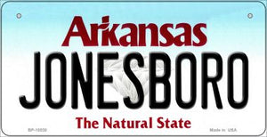 Jonesboro Arkansas Novelty Metal Bicycle Plate BP-10030