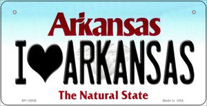 I Love Arkansas Novelty Metal Bicycle Plate BP-10035