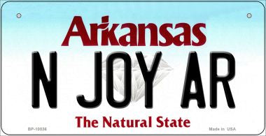 N Joy AR Arkansas Novelty Metal Bicycle Plate BP-10036