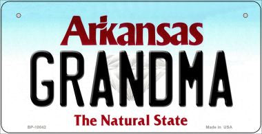 Grandma Arkansas Novelty Metal Bicycle Plate BP-10042