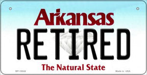 Retired Arkansas Novelty Metal Bicycle Plate BP-10044