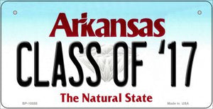 Class of '17 Arkansas Novelty Metal Bicycle Plate BP-10050