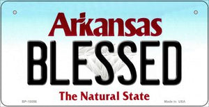 Blessed Arkansas Novelty Metal Bicycle Plate