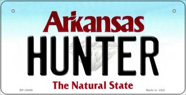 Hunter Arkansas Novelty Metal Bicycle Plate BP-10058
