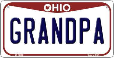 Grandpa Ohio Novelty Metal Bicycle Plate BP-10079