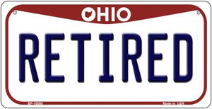 Retired Ohio Novelty Metal Bicycle Plate BP-10080