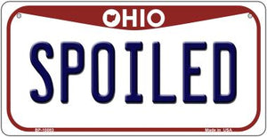 Spoiled Ohio Novelty Metal Bicycle Plate BP-10083