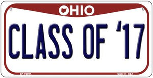 Class Of '17 Ohio Novelty Metal Bicycle Plate BP-10087