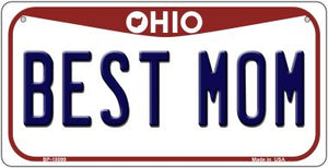 Best Mom Ohio Novelty Metal Bicycle Plate