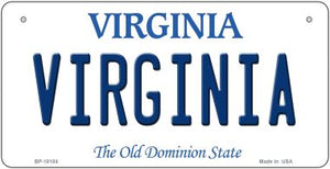 Virginia Novelty Metal Bicycle Plate