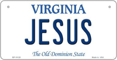 Jesus Virginia Novelty Metal Bicycle Plate BP-10128