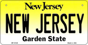 New Jersey Novelty Metal Bicycle Plate BP-10145