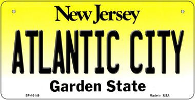 Atlantic City New Jersey Novelty Metal Bicycle Plate