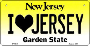 I Love Jersey Novelty Metal Bicycle Plate BP-10155
