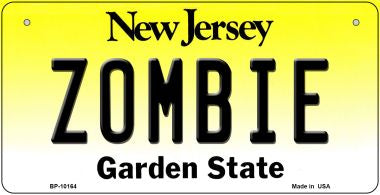 Zombie New Jersey Novelty Metal Bicycle Plate
