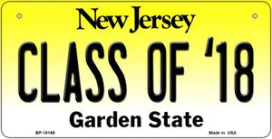 Class of '18 New Jersey Novelty Metal Bicycle Plate BP-10169